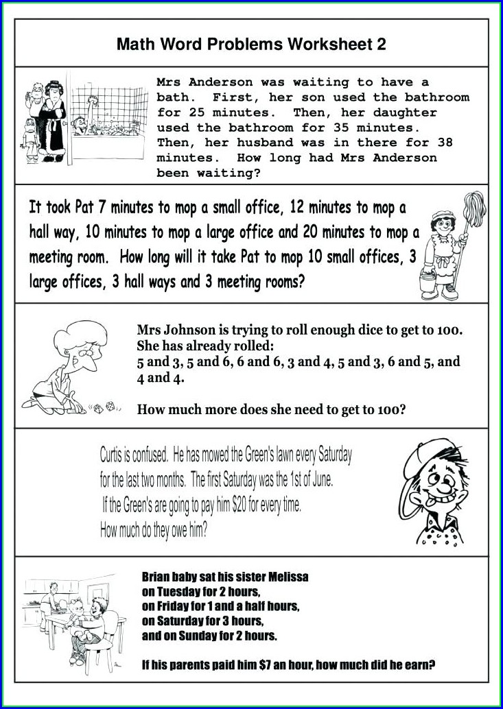 Keywords For Math Word Problems Worksheet