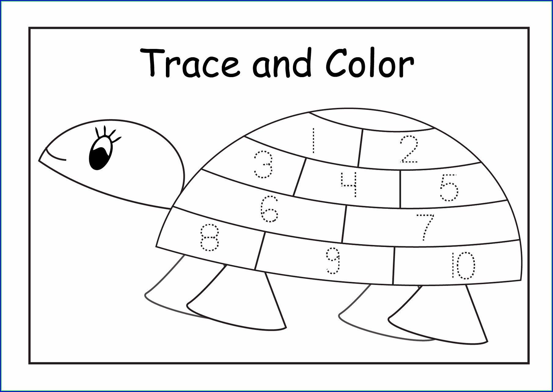 Learning Numbers Worksheets 1 10