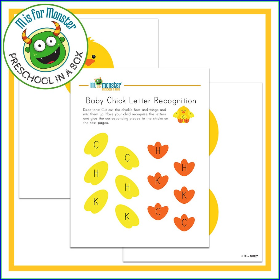 Letter Recognition Worksheet Preschool