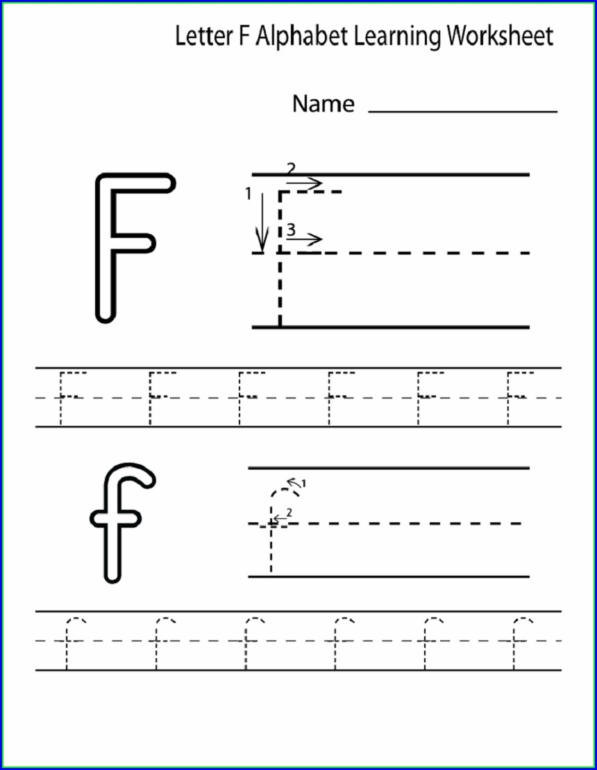 Letter Worksheet For Preschool