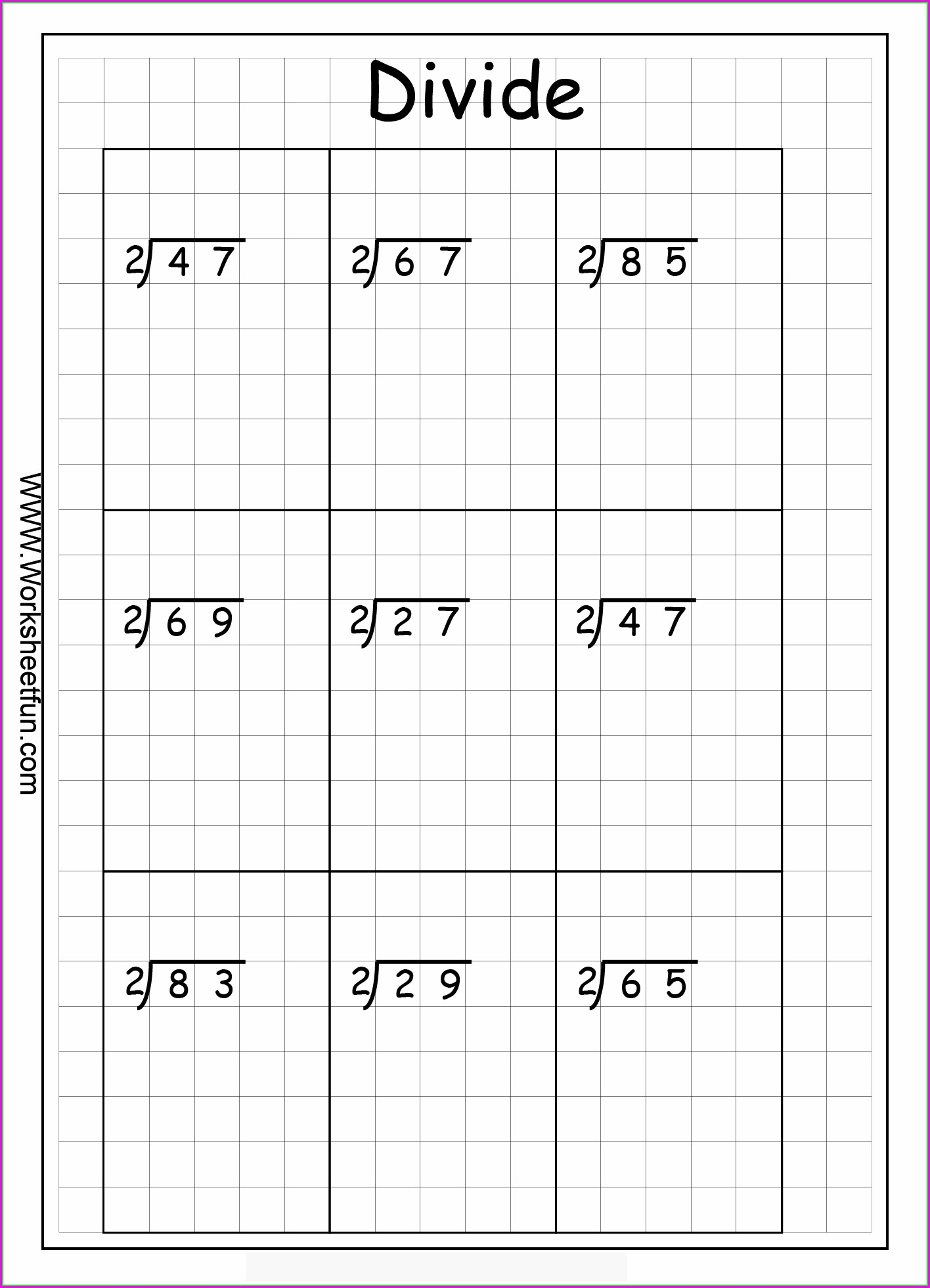 Long Division Worksheet Grade 2