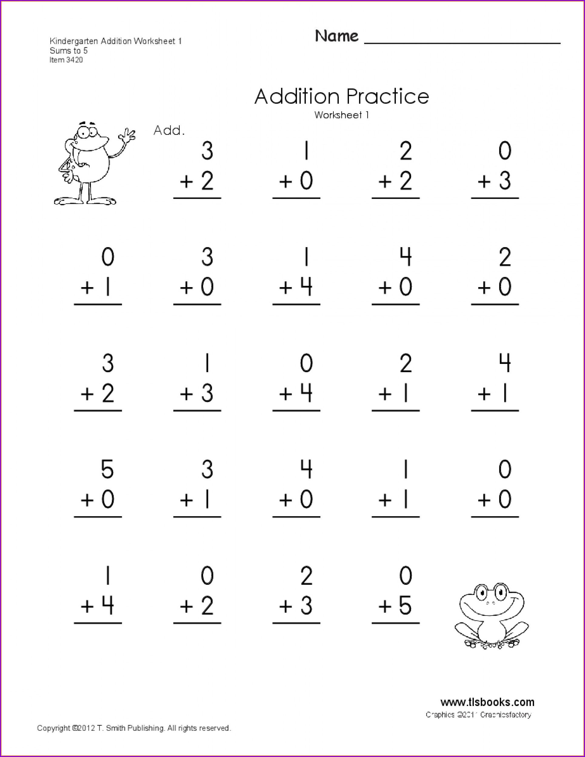 Maths Addition Worksheet For Ukg