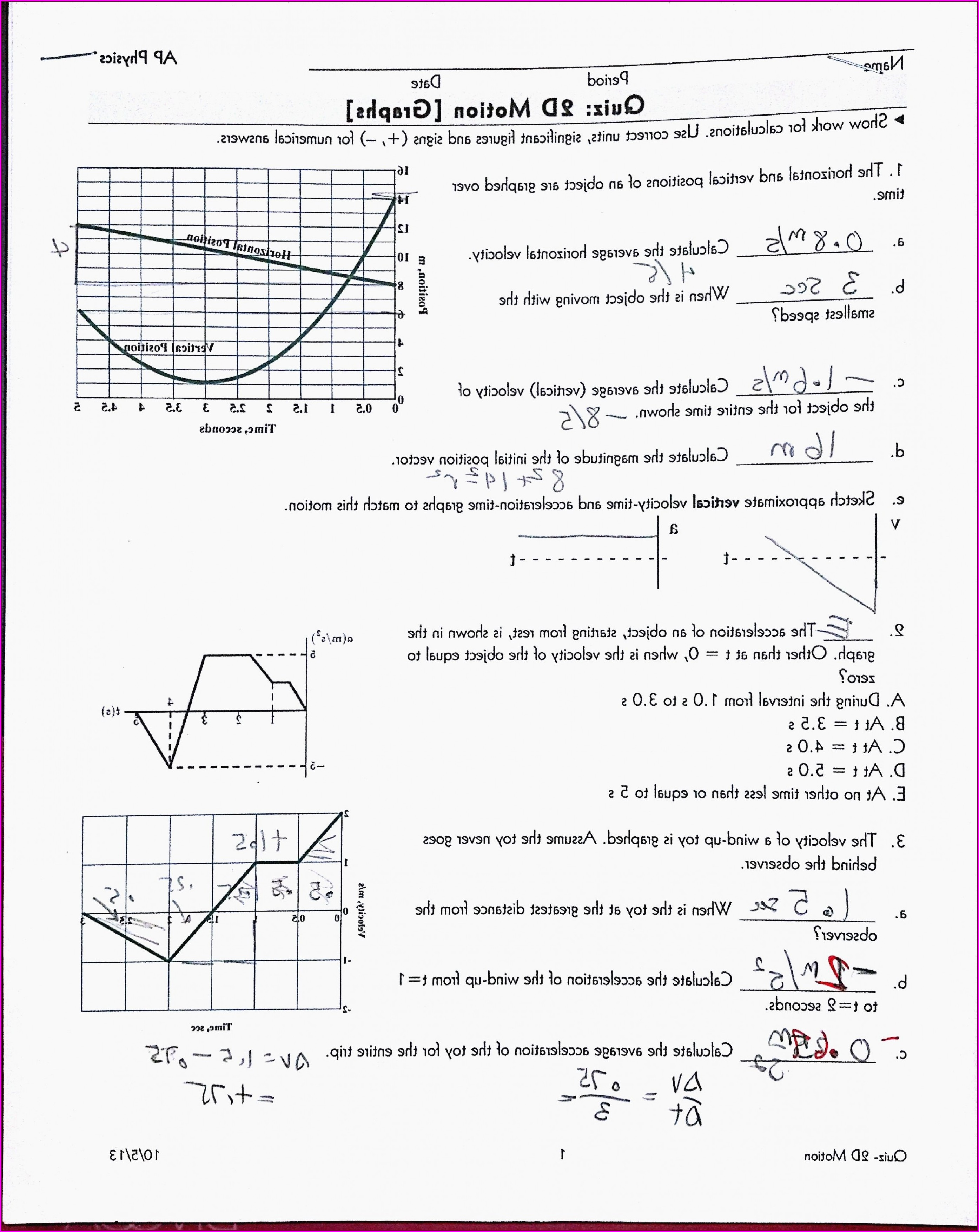 Middle School Vectors Worksheet