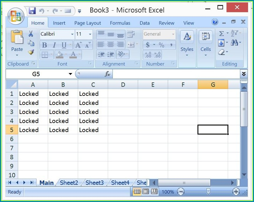 Ms Excel Vba Protect Worksheet