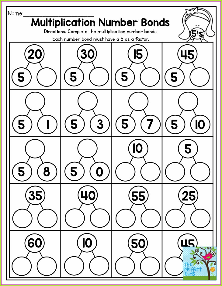 Multiplication And Division Number Bonds Worksheets