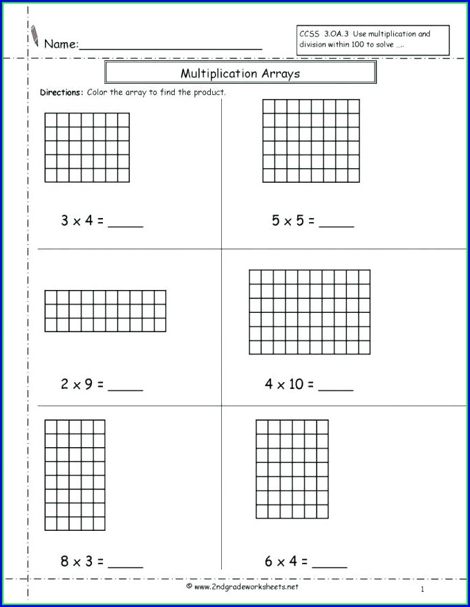 Multiplication As Repeated Addition Worksheet 1