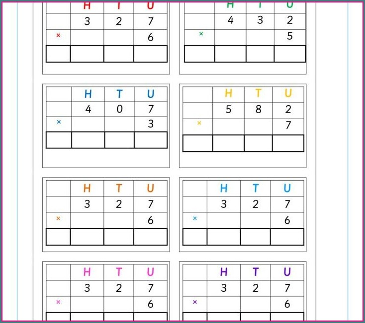 Multiplication Worksheet Of 3