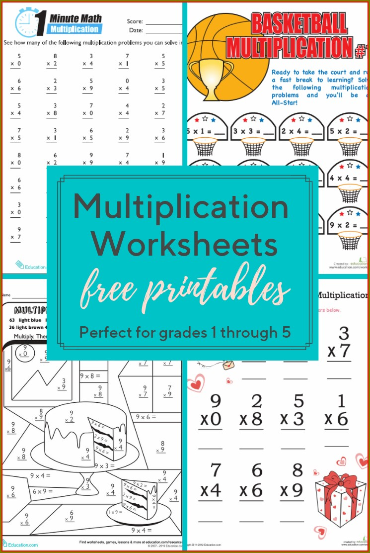 Multiplication Worksheets Educationcom