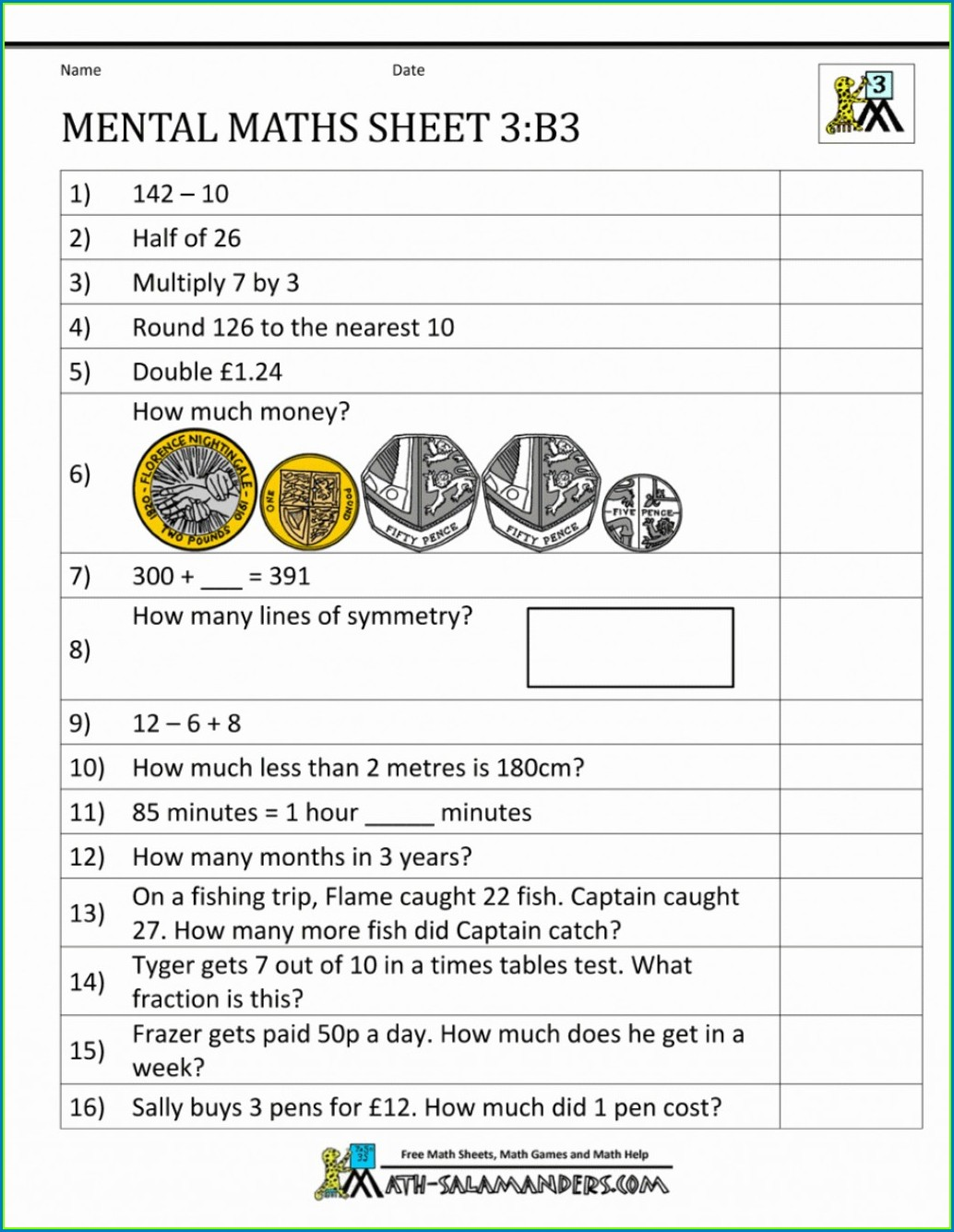 Multiplication Worksheets Year 3 Free