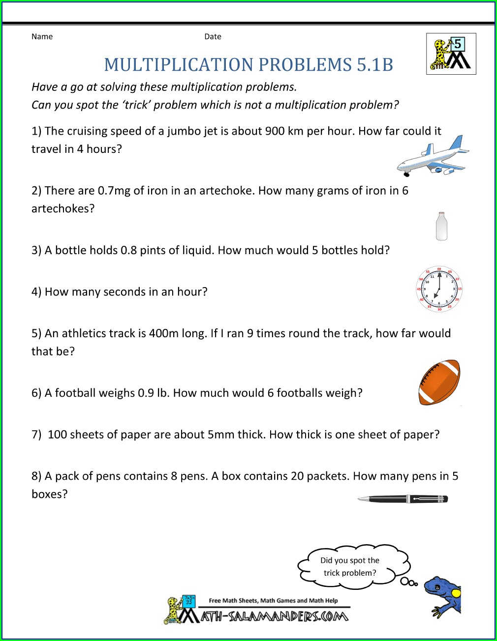 Multiplying And Dividing Decimals Word Problems Worksheets 5th Grade