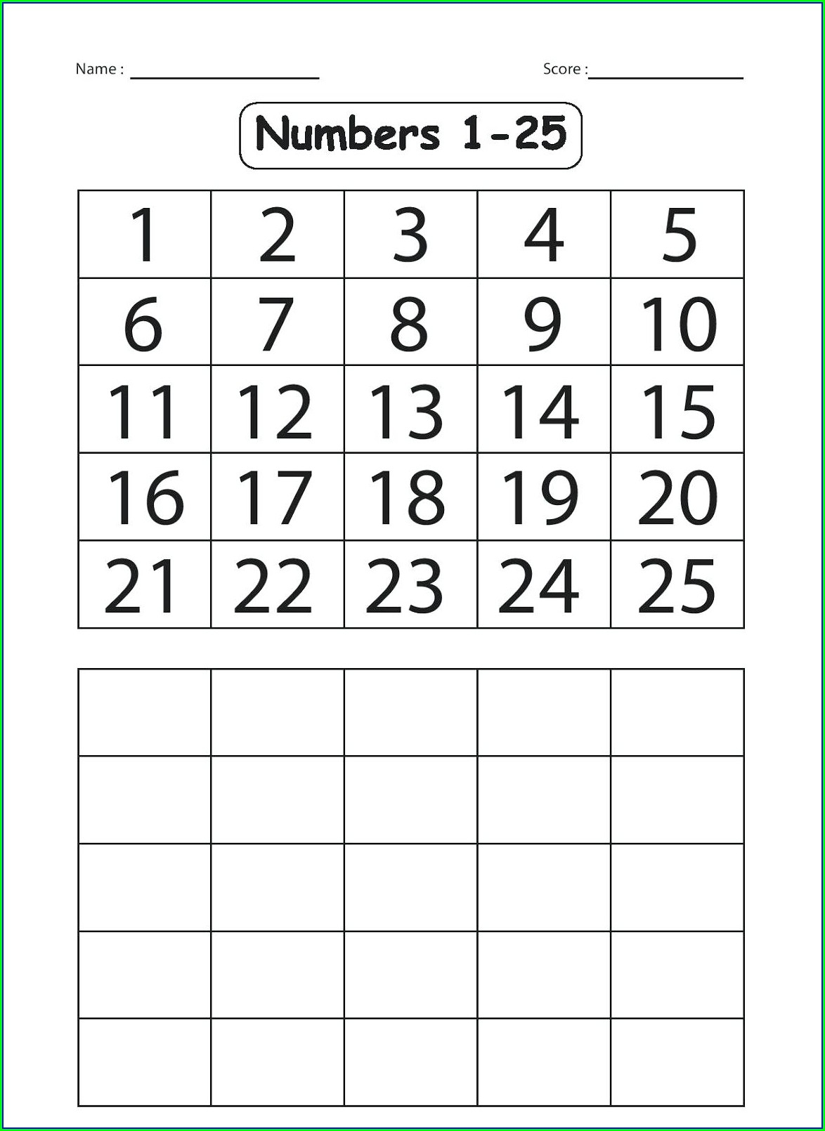 Number 20 Worksheet For Kindergarten