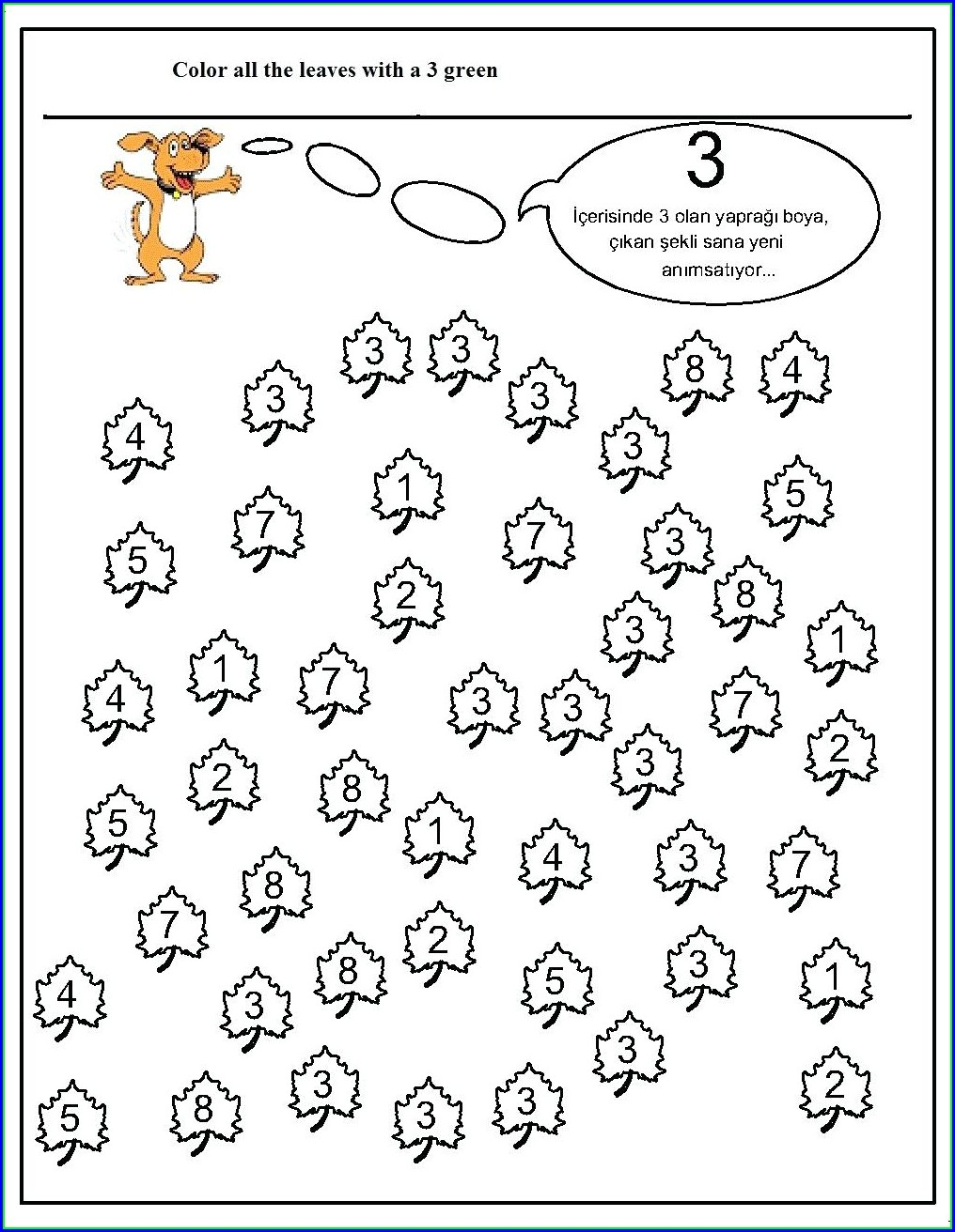 Number 3 Tracing Worksheets For Preschool