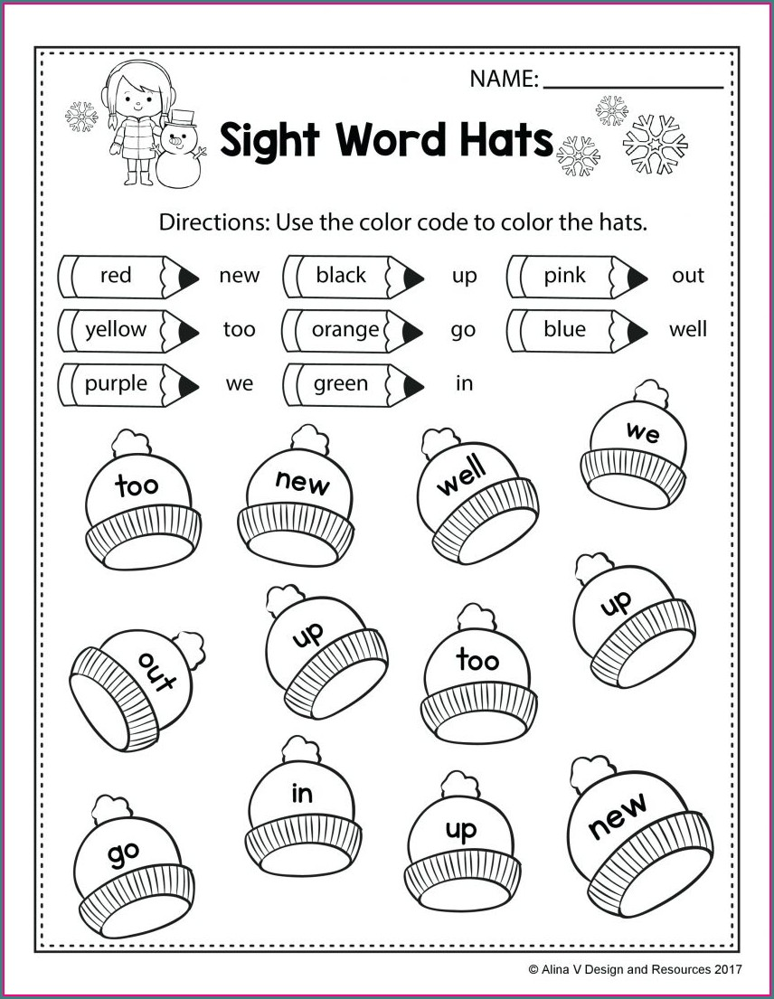 Number Patterns Worksheets For Kindergarten