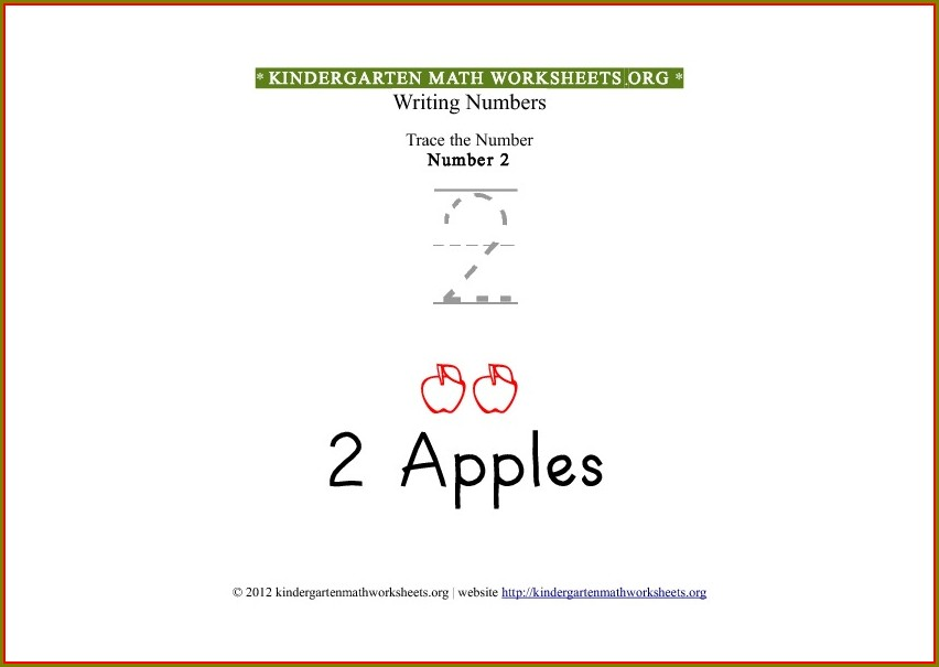 Number Tracing Worksheets Number 2