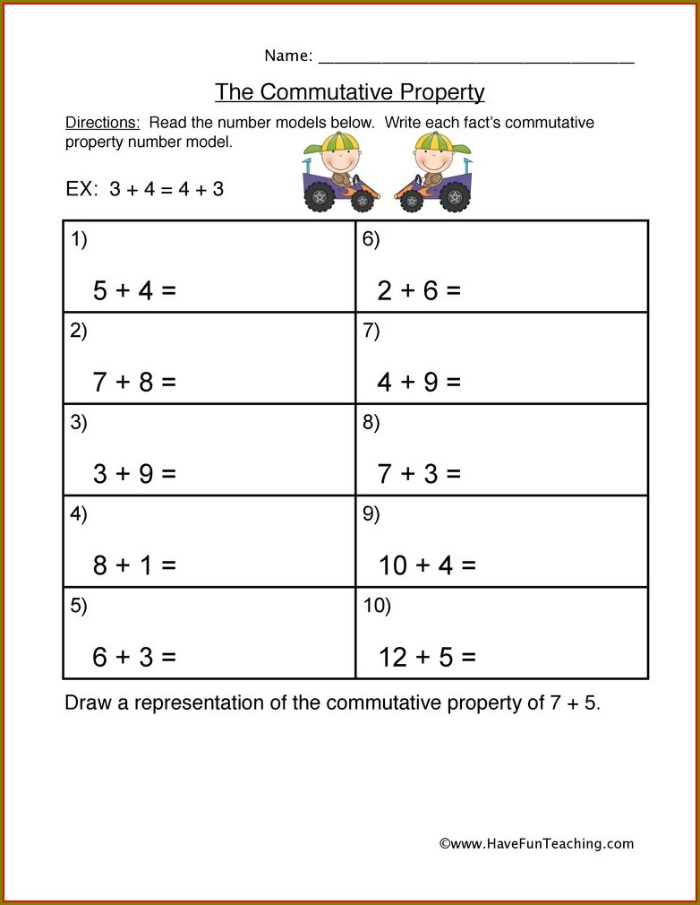 Order Of Operations And Properties Worksheet