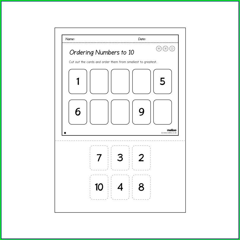 Ordering Numbers Smallest To Largest Worksheet Ks1