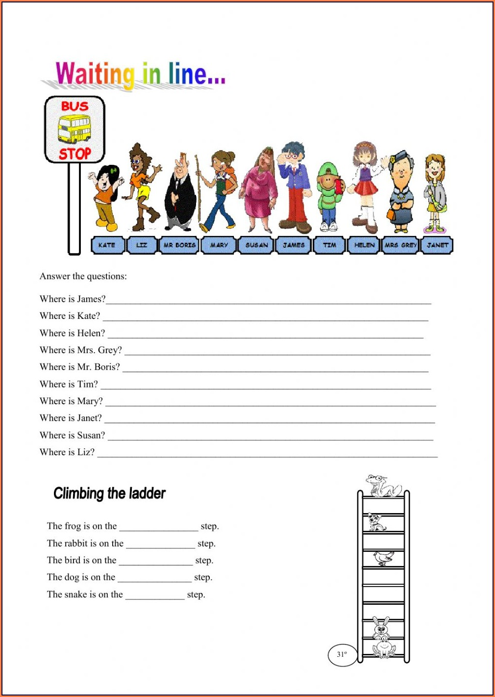 Ordinal Numbers Worksheet For Adults
