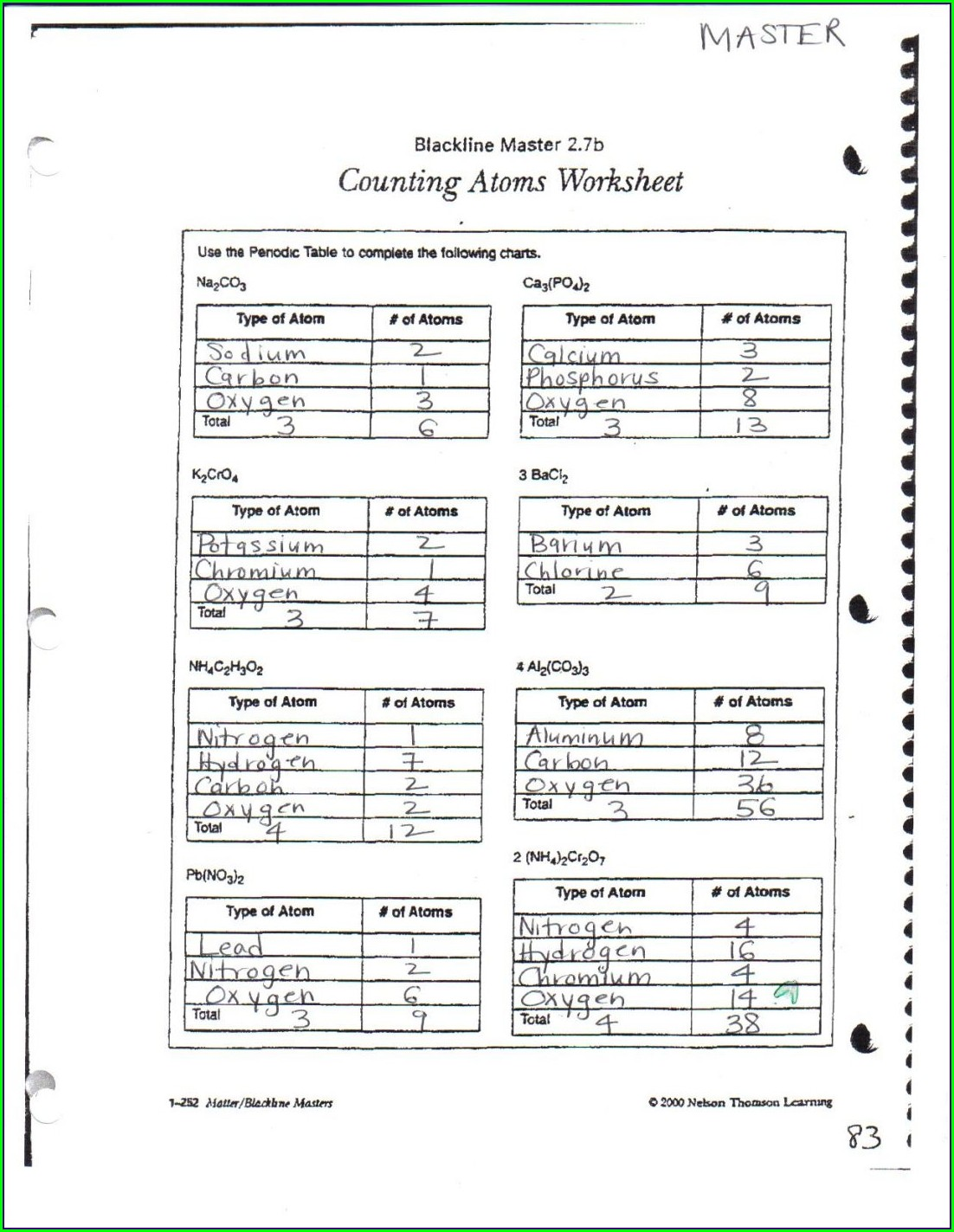 Physical Science Periodic Table Worksheet Answers