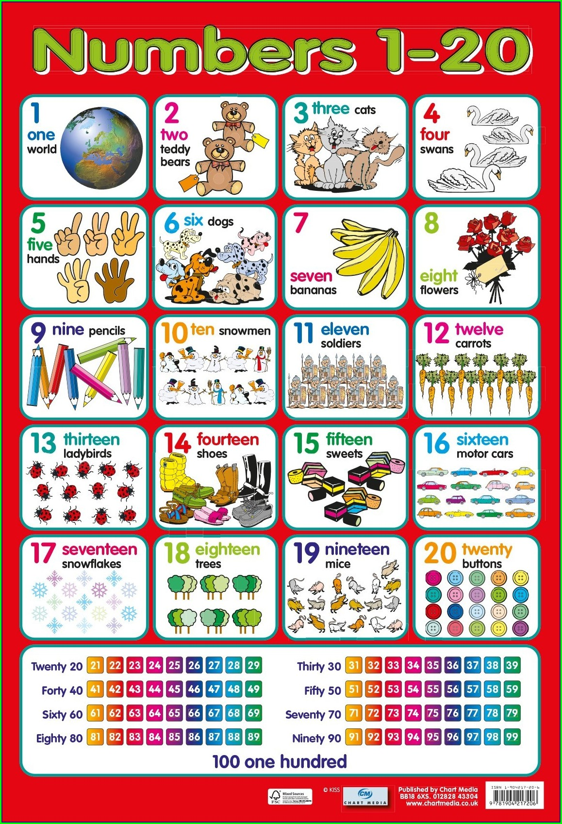Preschool Number Worksheet 1 20
