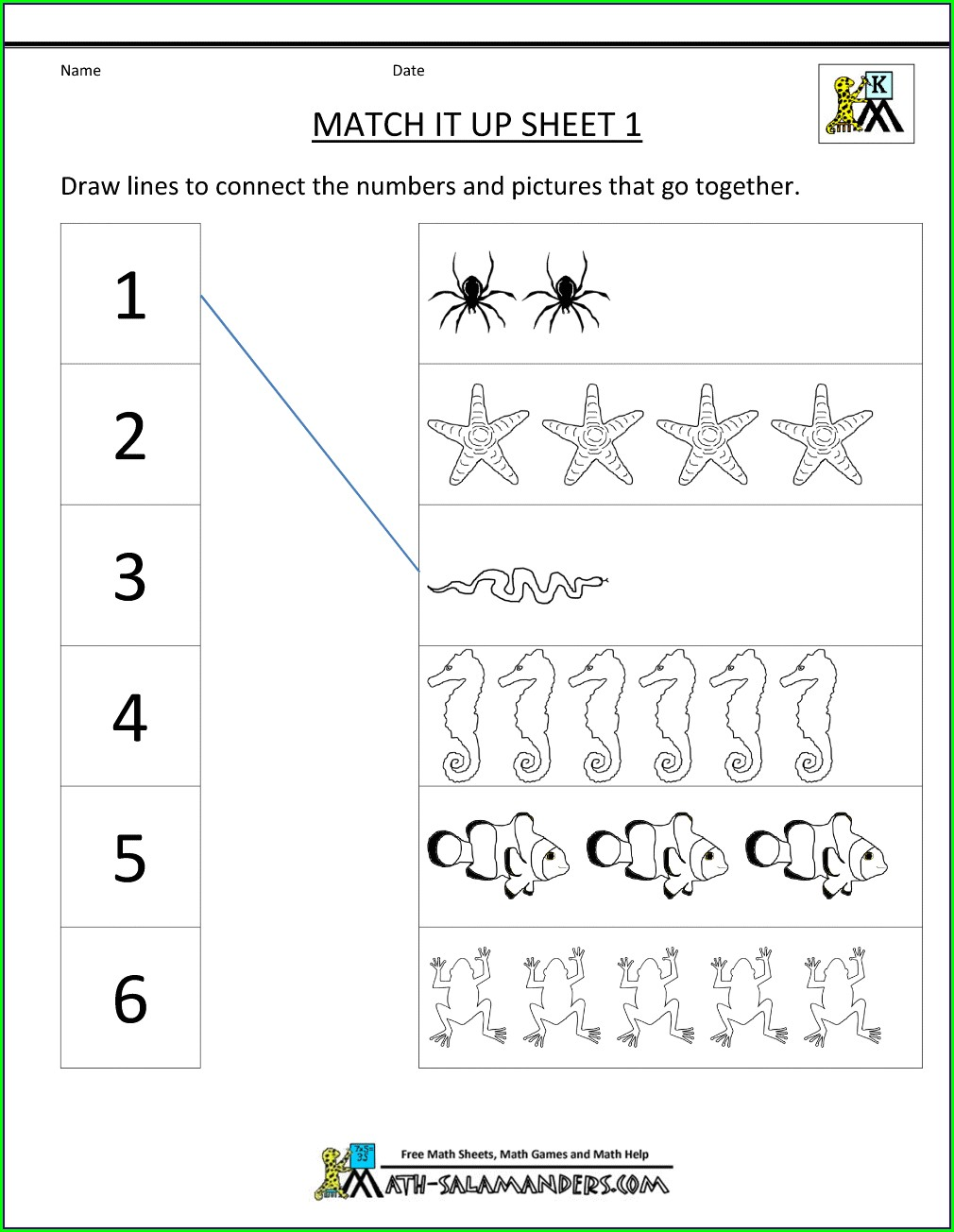 Preschool Up And Down Worksheets For Nursery