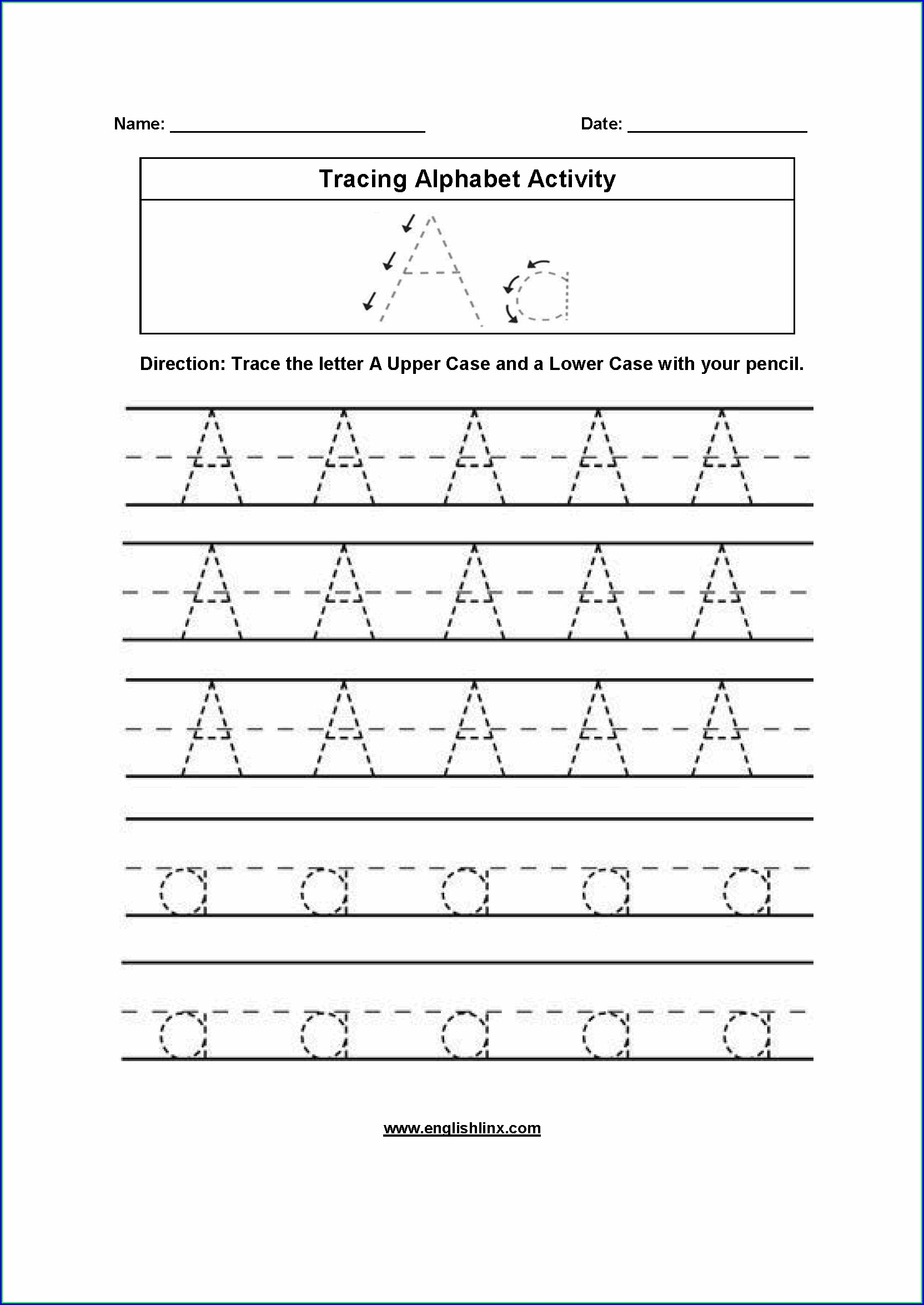 Preschool Worksheet Letter U