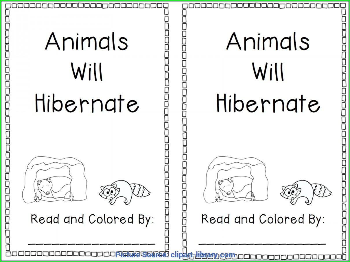 Preschool Worksheet On Hibernation