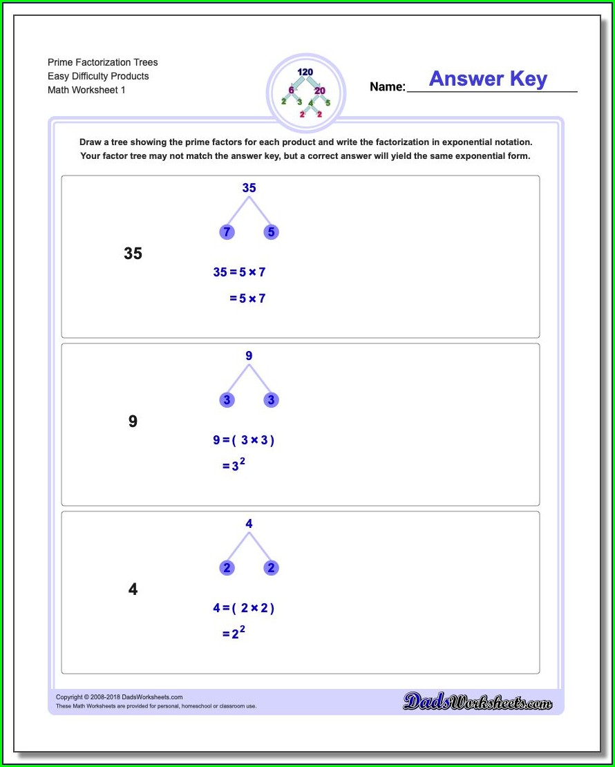 Prime Number Worksheets For 6th Grade