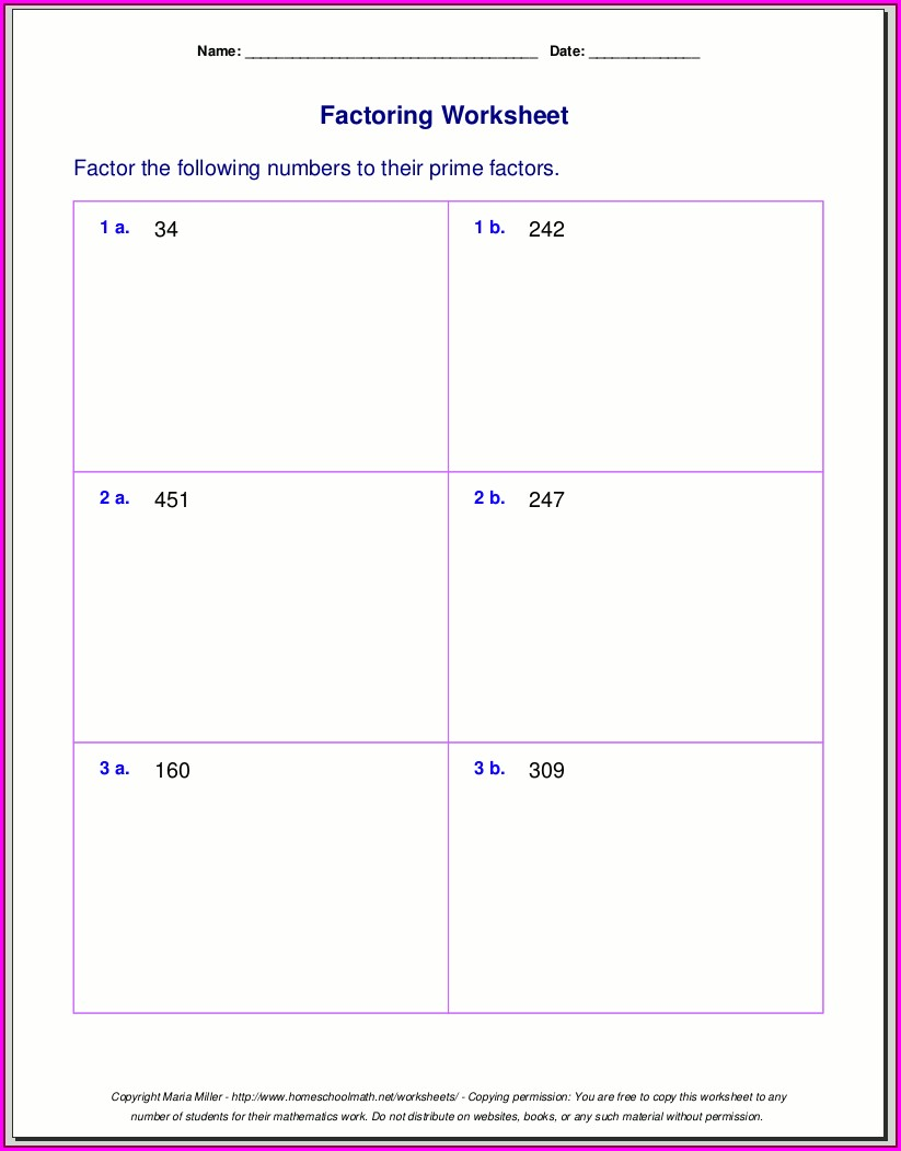 Prime Numbers Worksheet Year 8