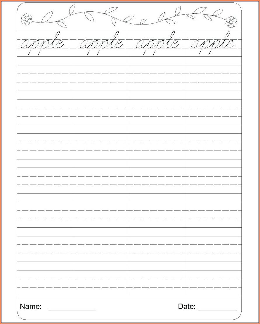 Printable Cursive Writing Sentences Worksheets Pdf