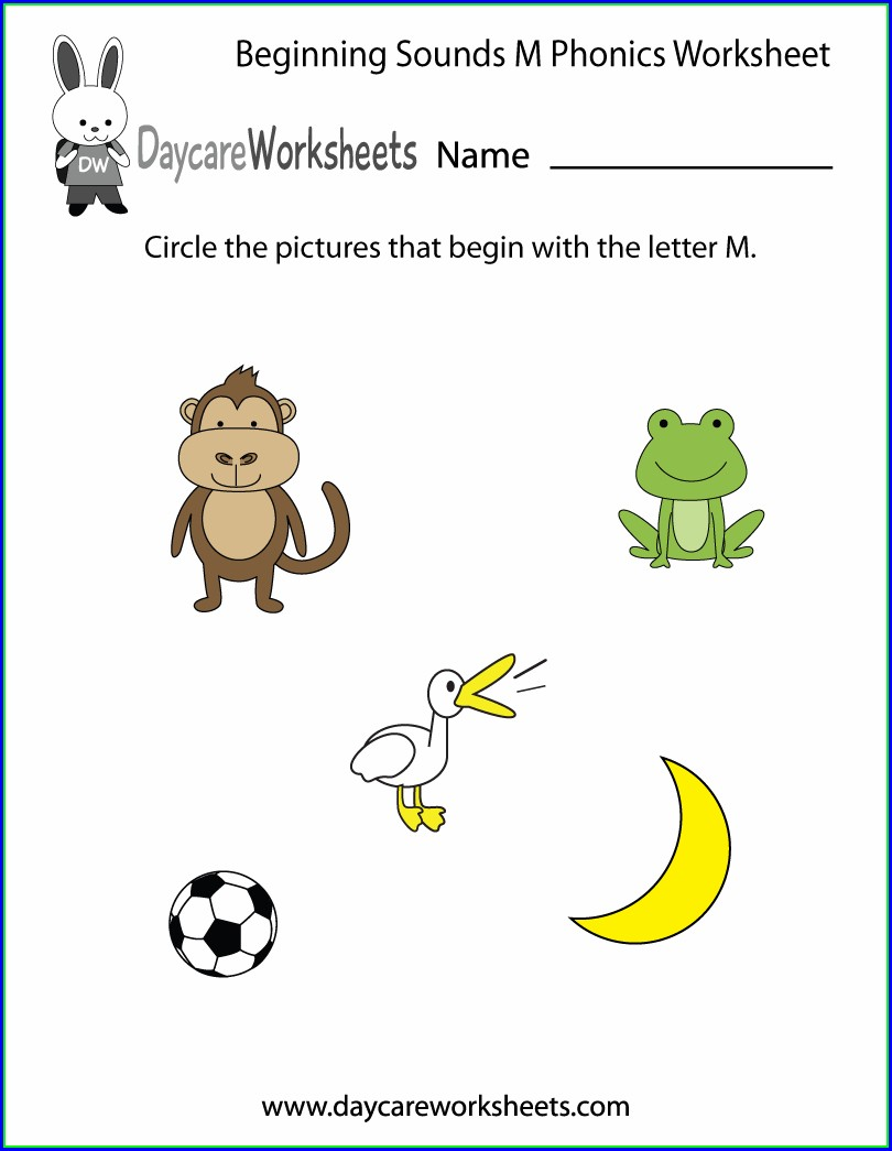 Printable Letter M Worksheet Preschool