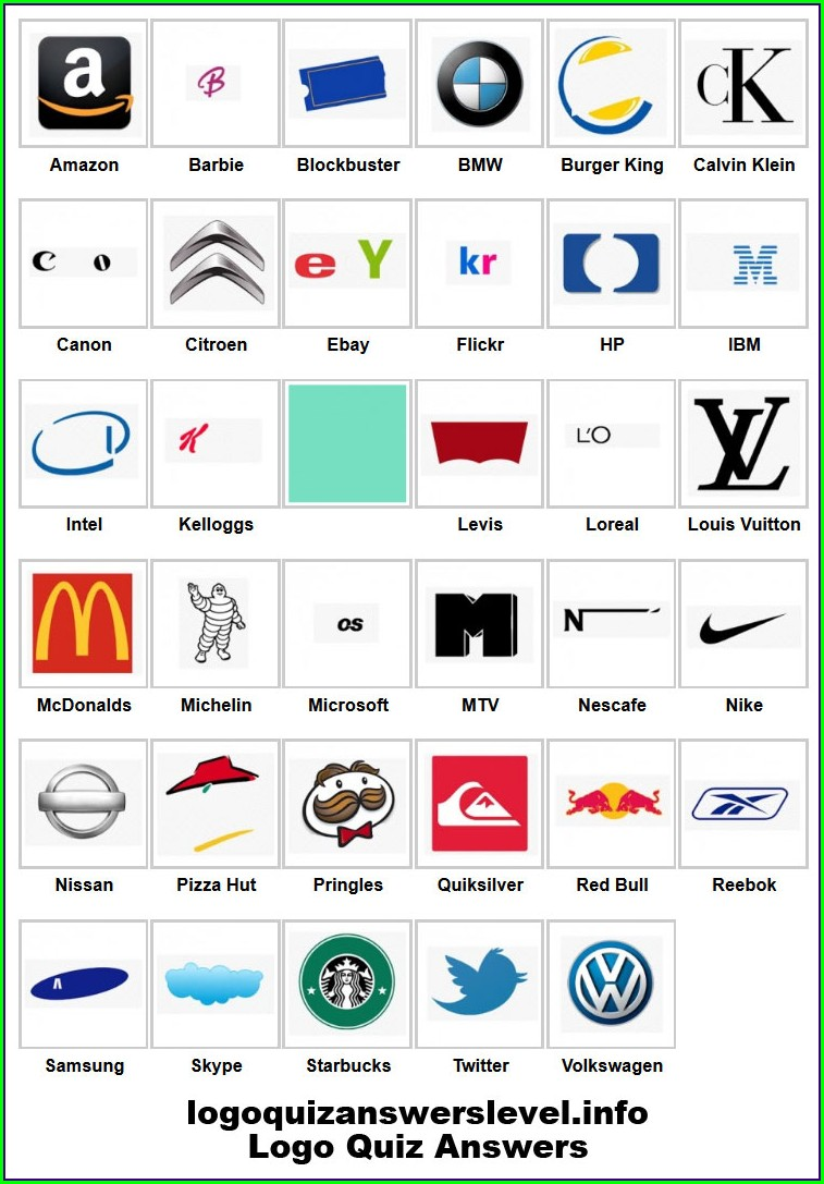 Printable Logo Quiz Worksheet