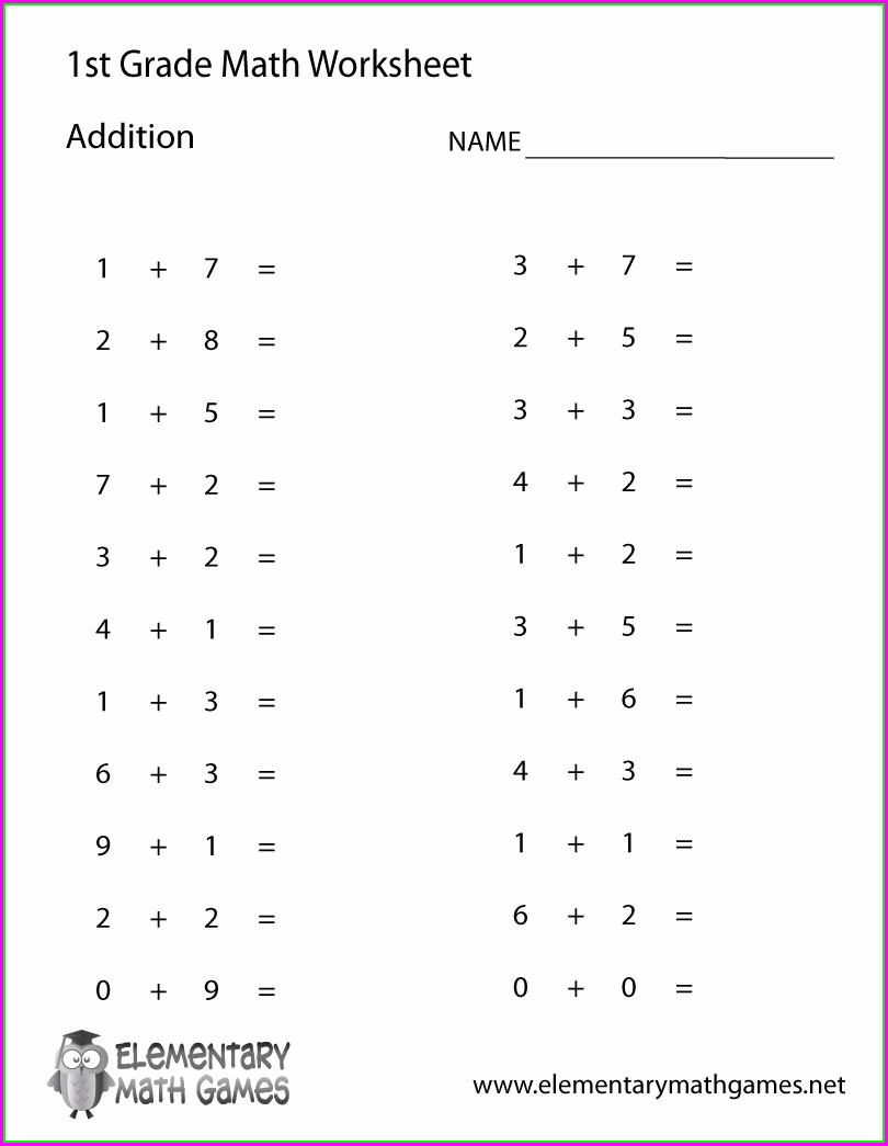 Printable Simple Math Worksheets