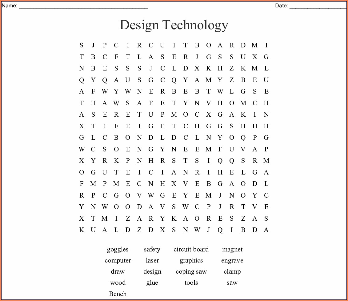 Printable Technology Word Search