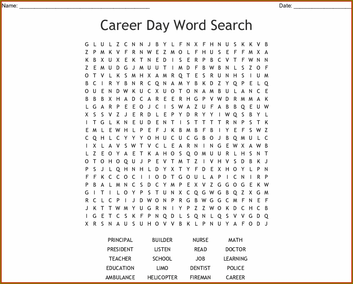 Printable Word Search For Middle School