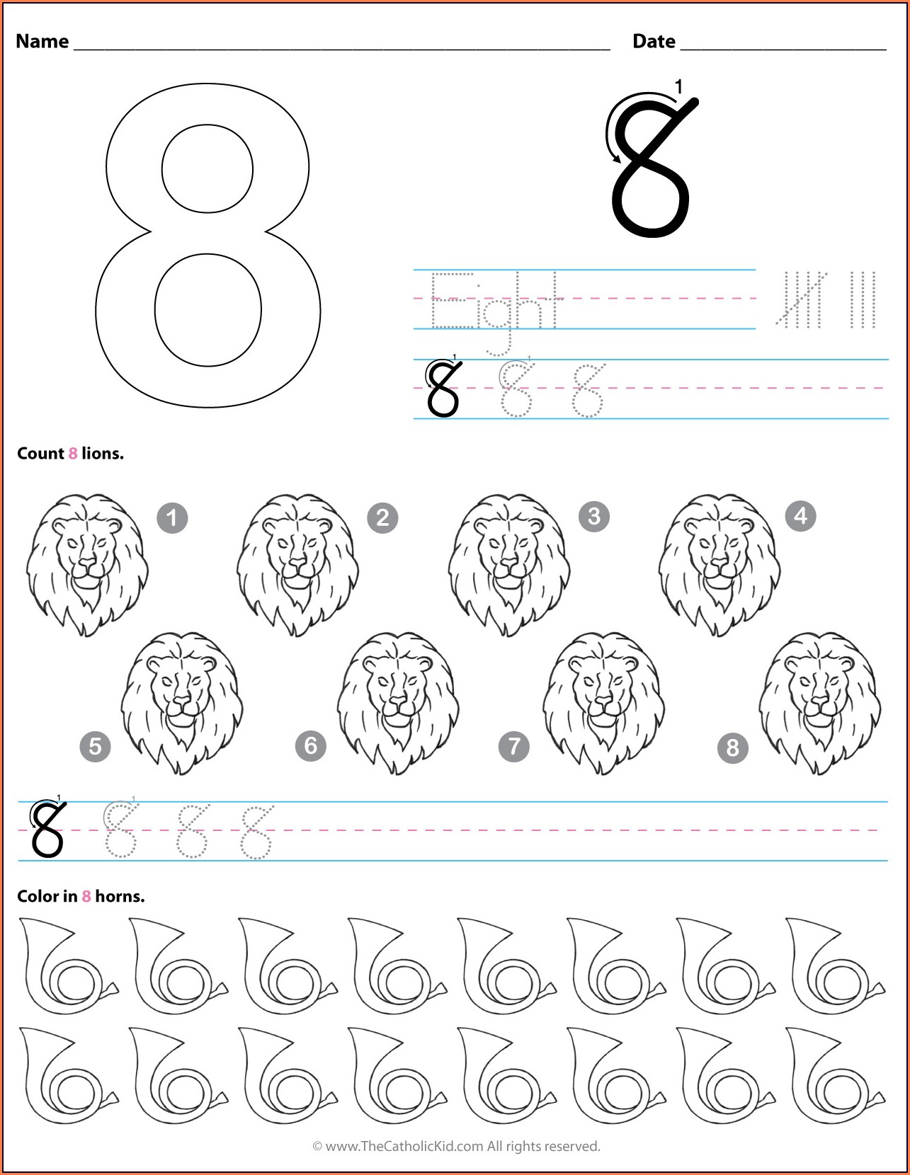 Printable Worksheets For Preschool