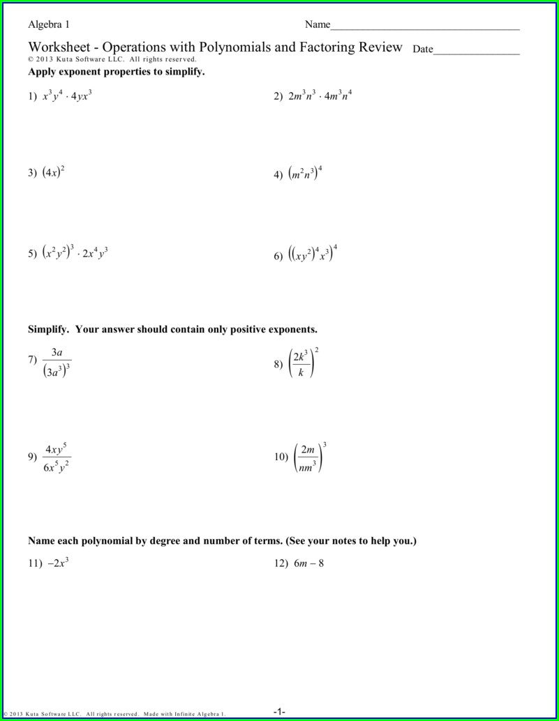 Quadratic Word Problems Worksheet Kuta Answers