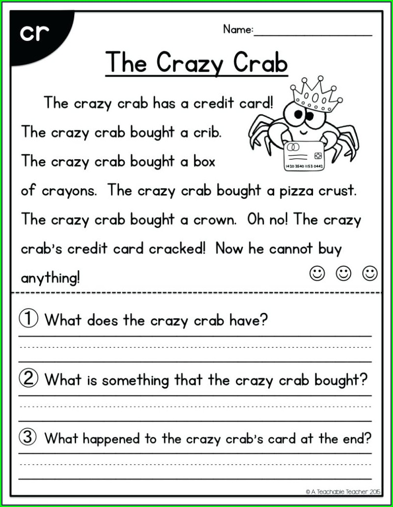 Second Grade 2nd Grade Reading Worksheets