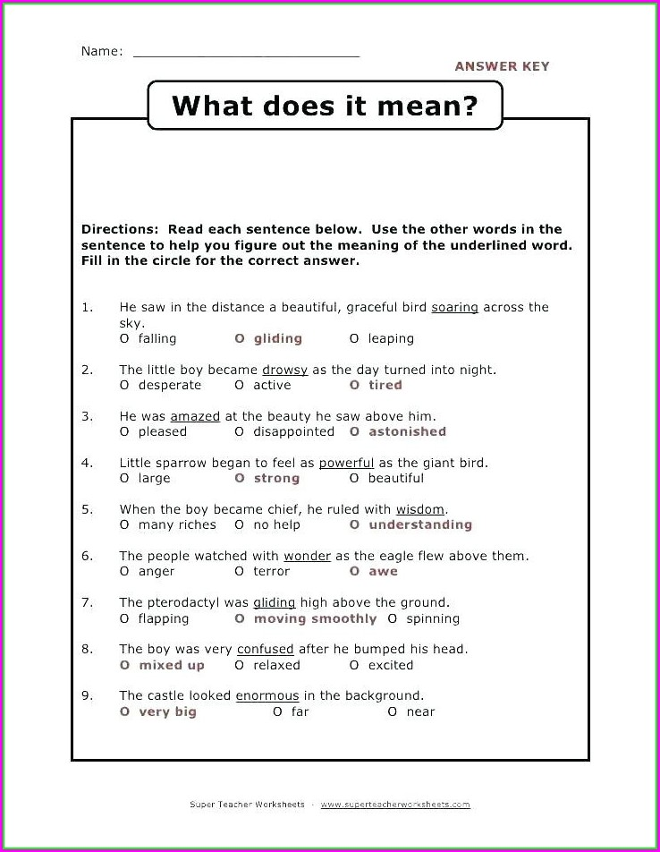 Second Grade Context Clues Worksheets 2nd Grade Pdf