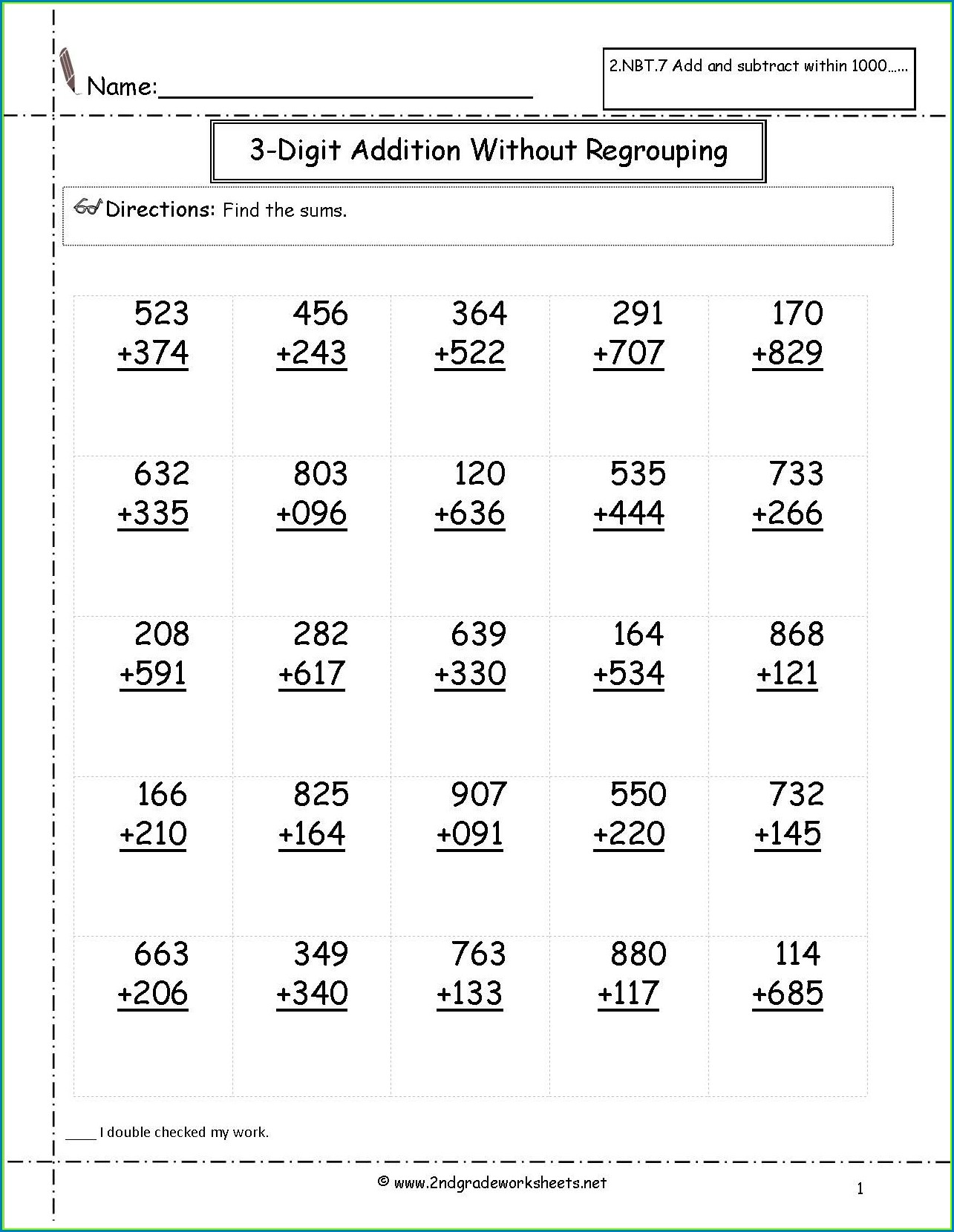 Second Grade Math Fractions Worksheets
