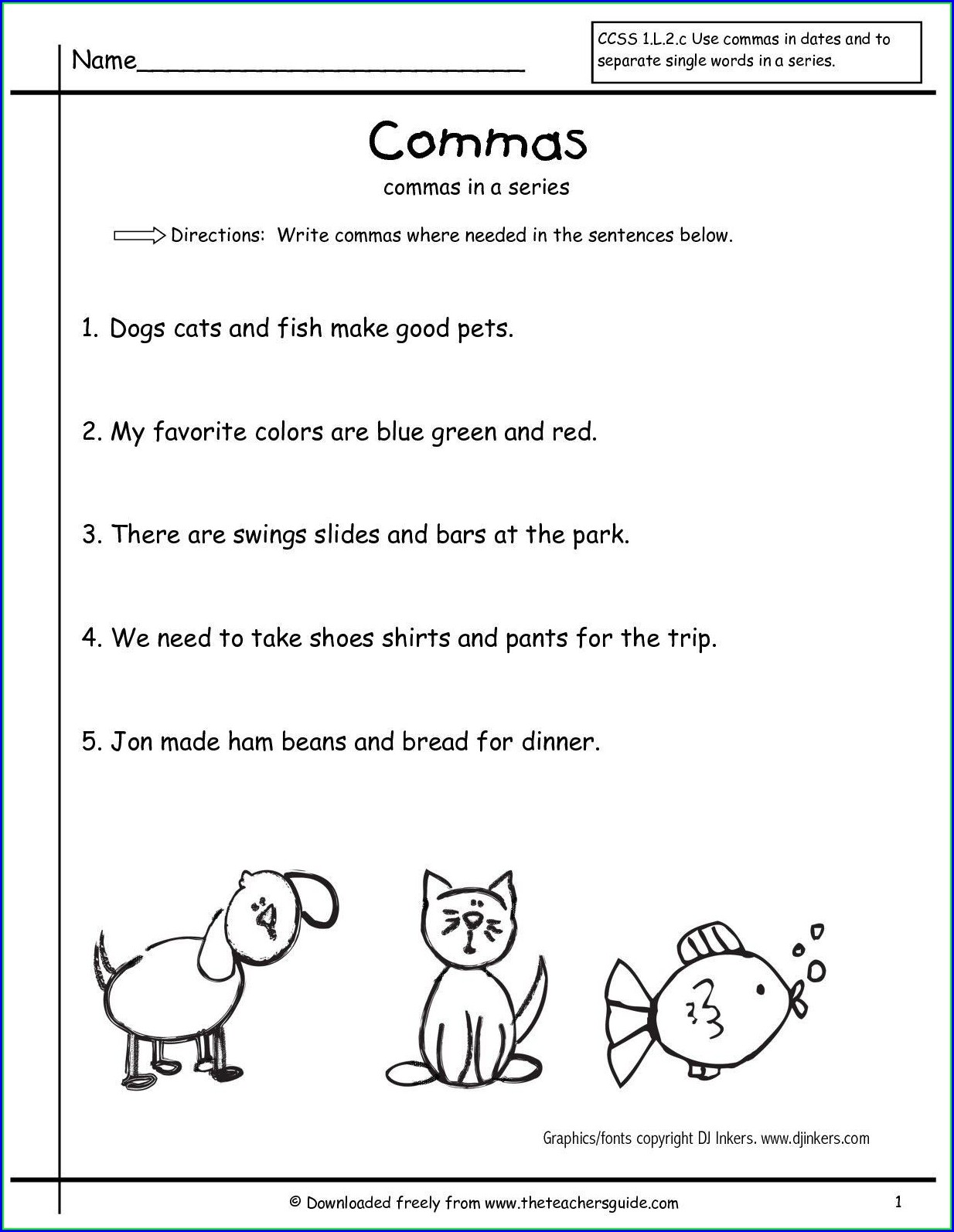 Second Grade Punctuation Worksheet Grade 2