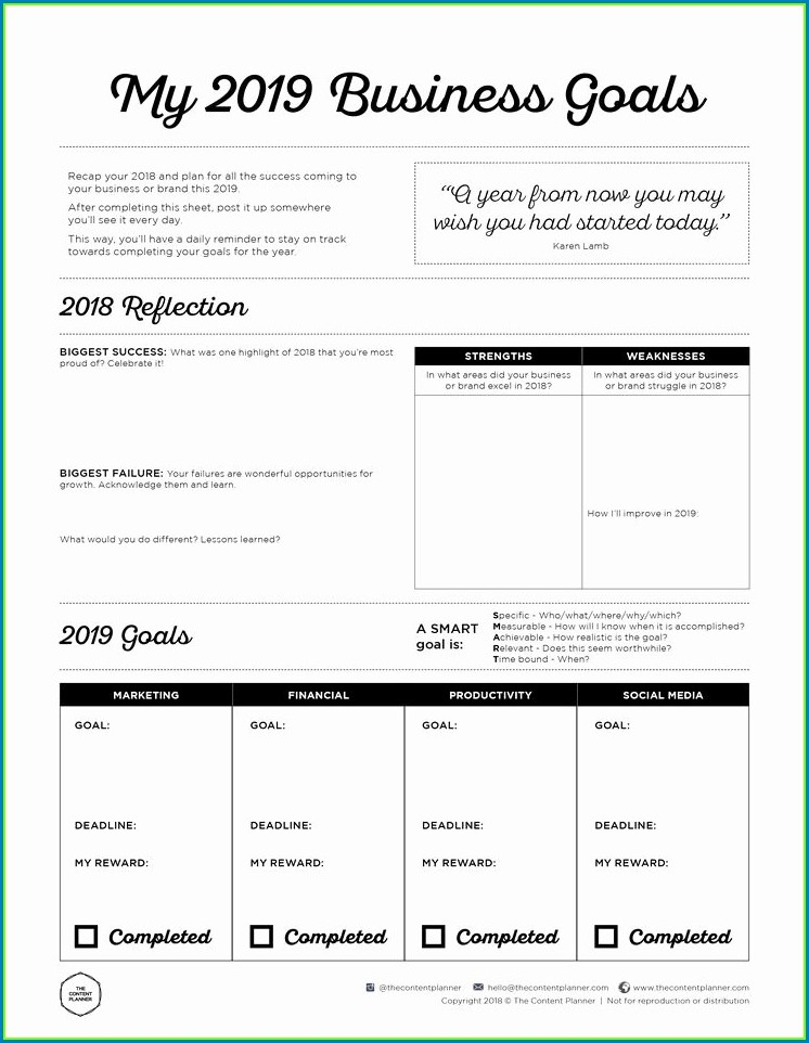 Smart Goals Worksheet Pdf Free
