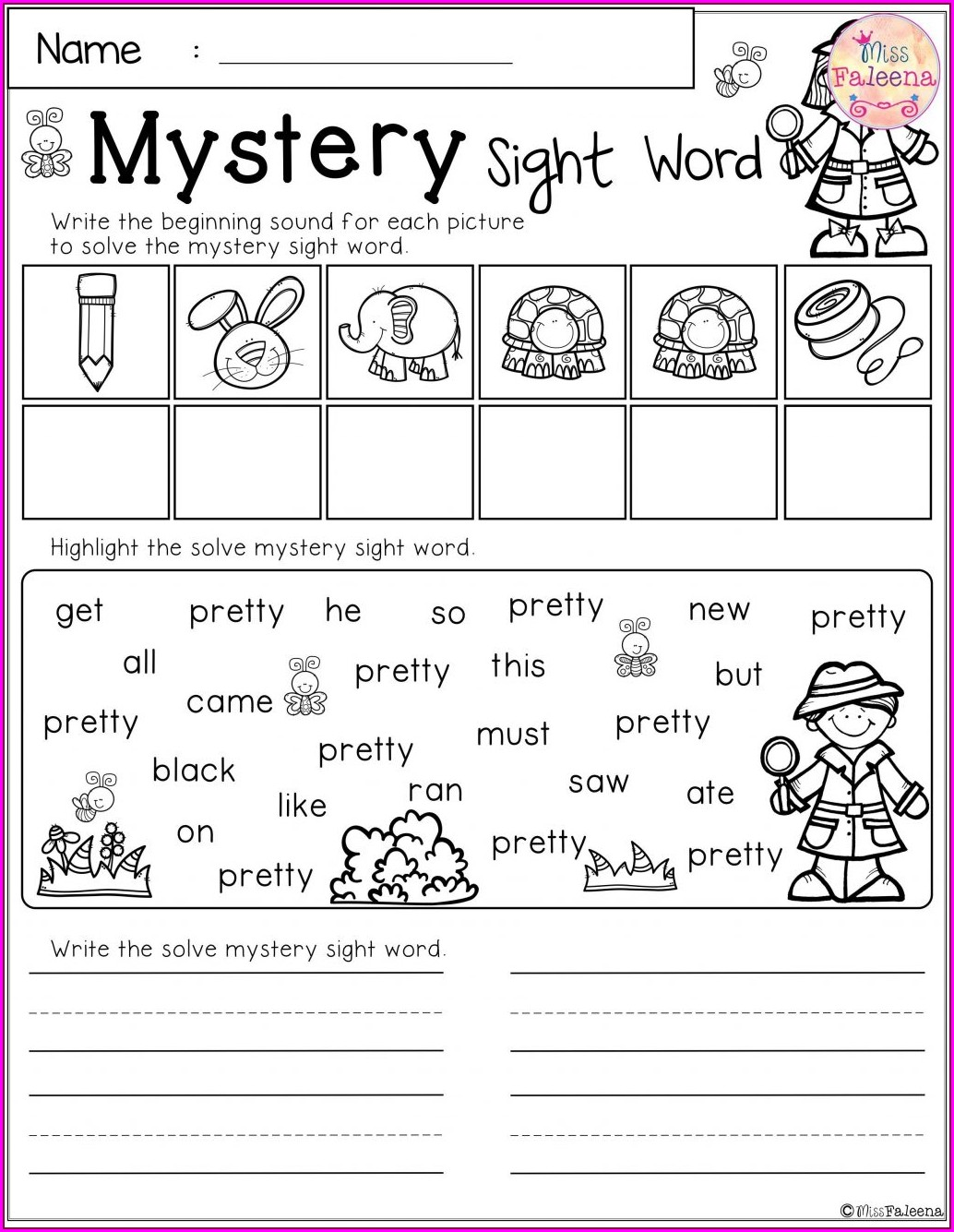 Spelling Word Practice Worksheet Maker