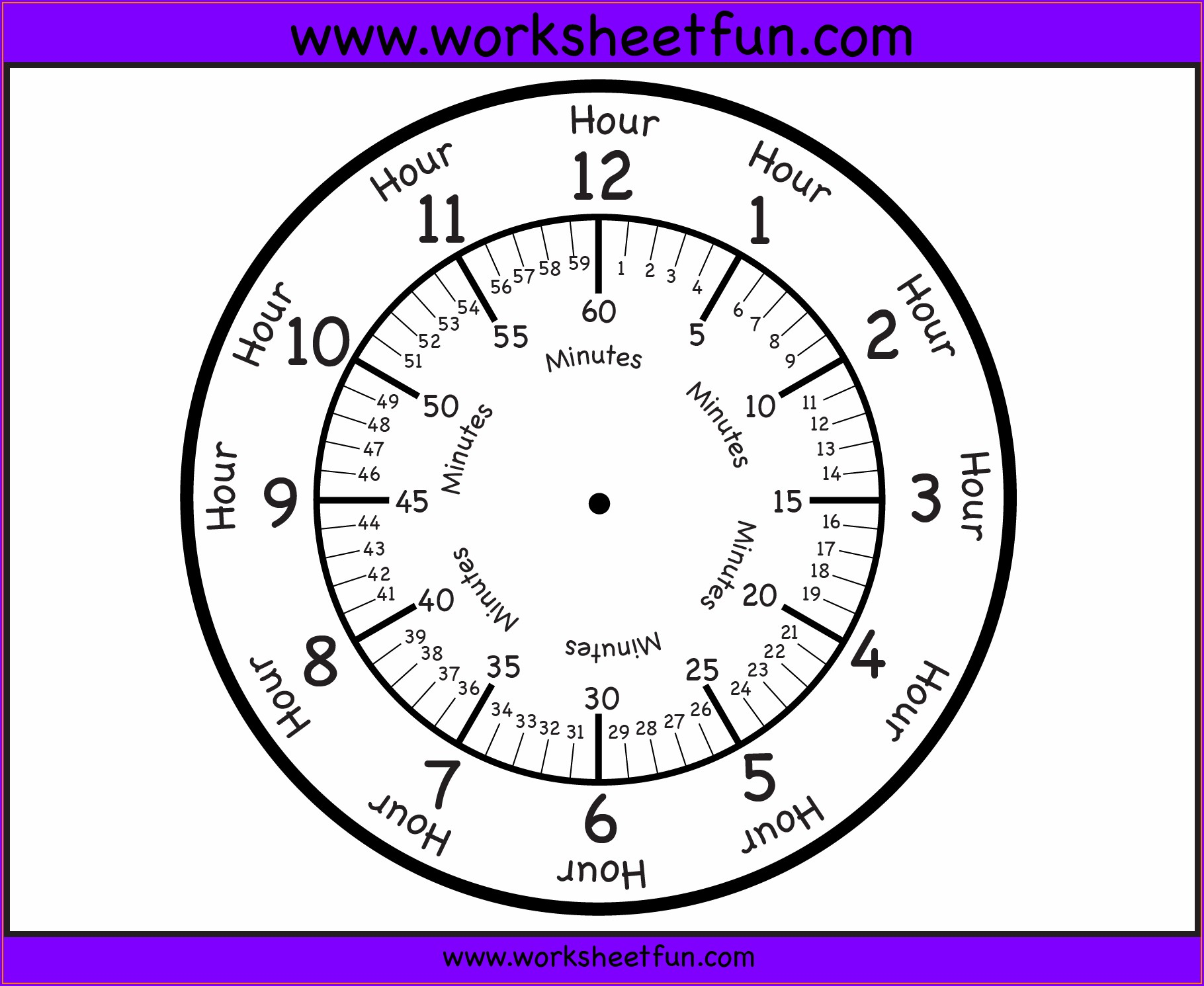 Telling Time Worksheets Blank Clock Faces