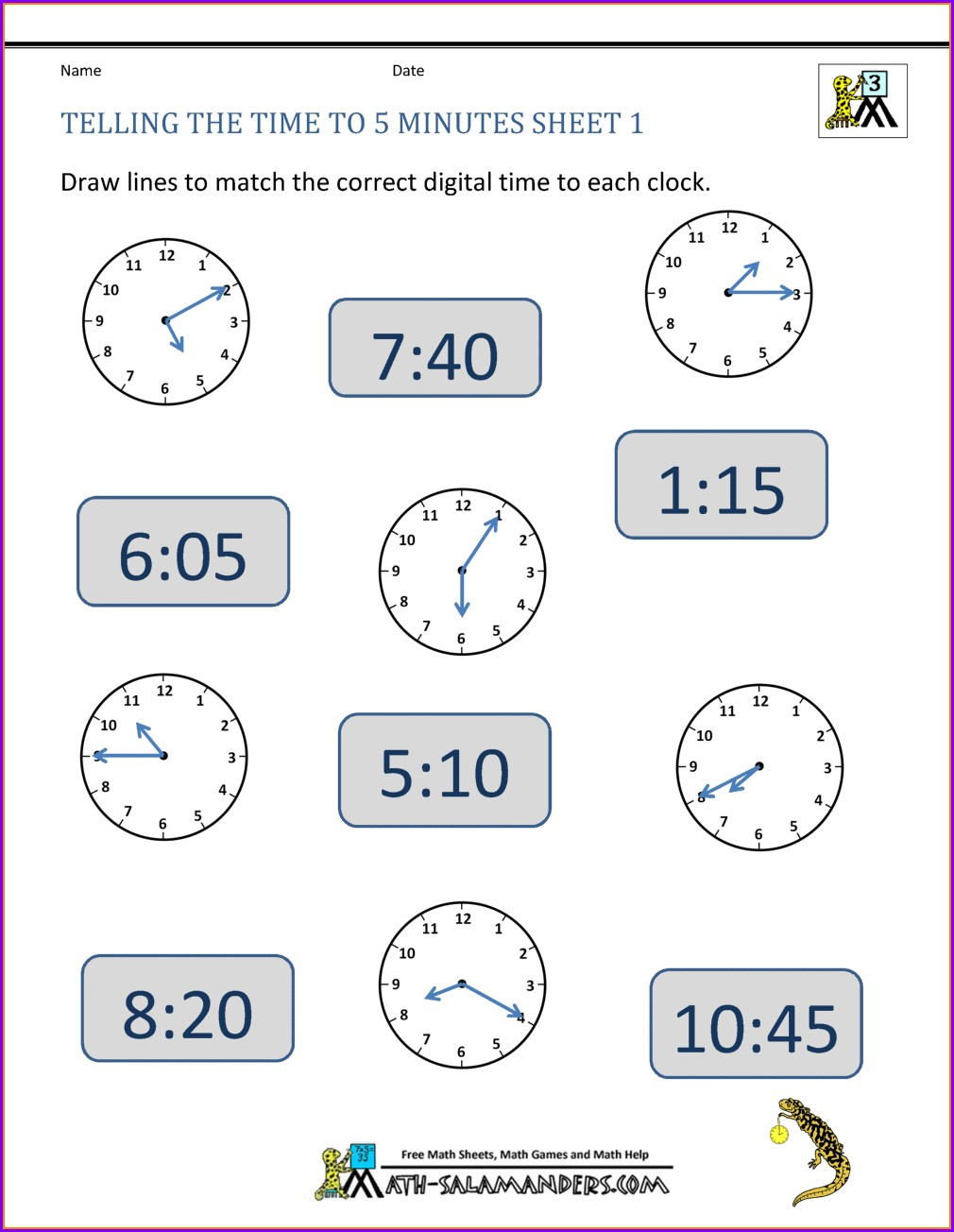 Telling Time Worksheets Digital And Analog Clocks