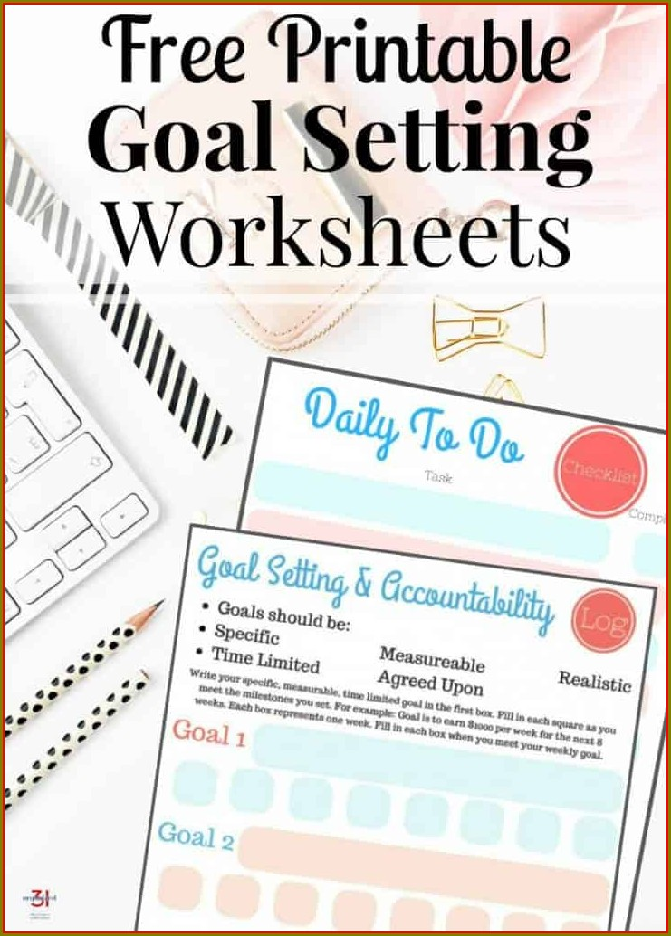 Template Goal Setting Worksheet For Kids