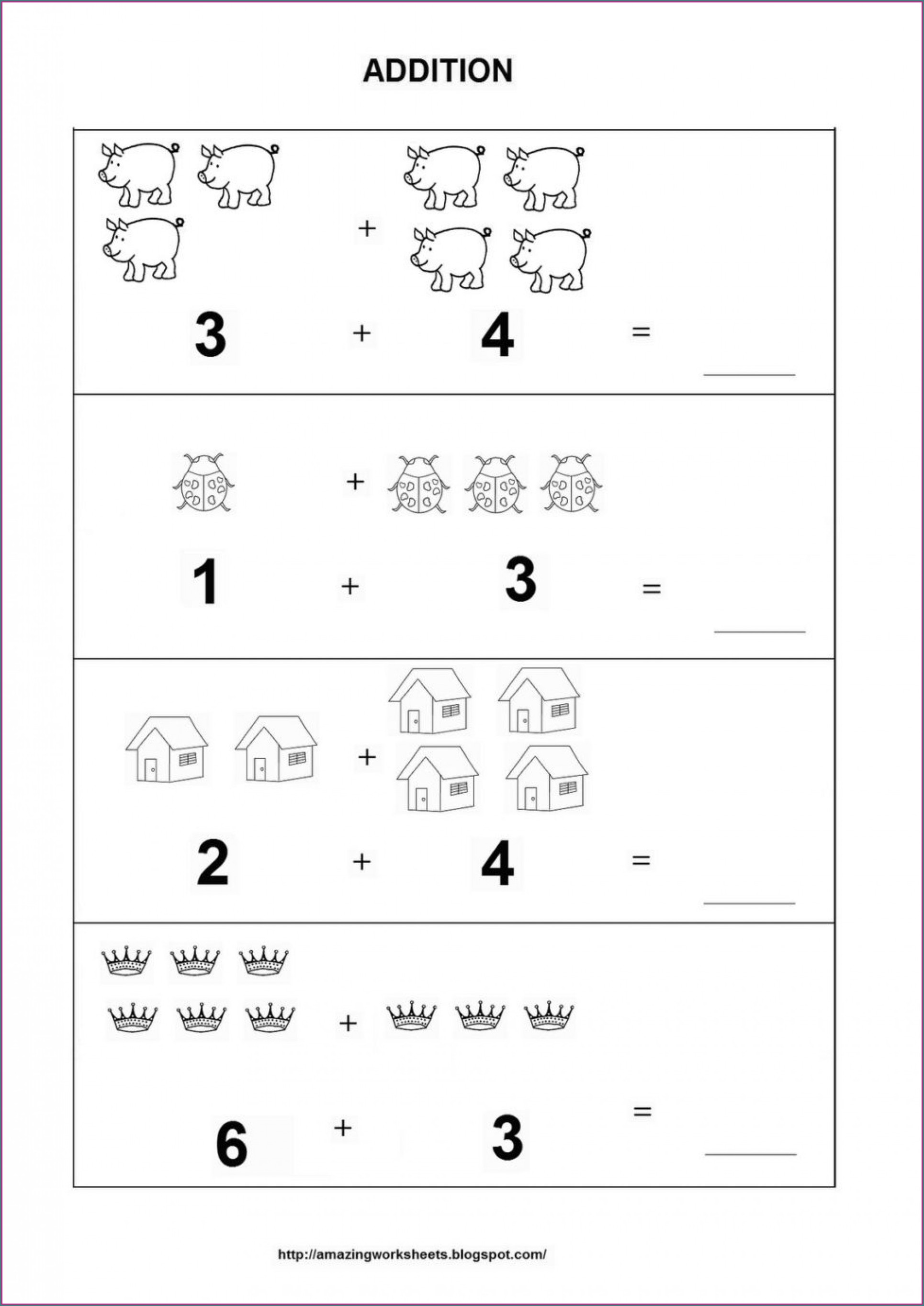 Touch Math Addition Worksheets For Kindergarten