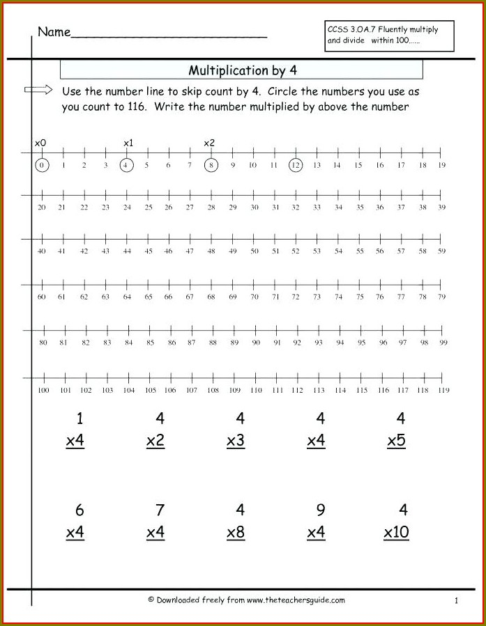 Tracing Numbers 1 To 100 Worksheet