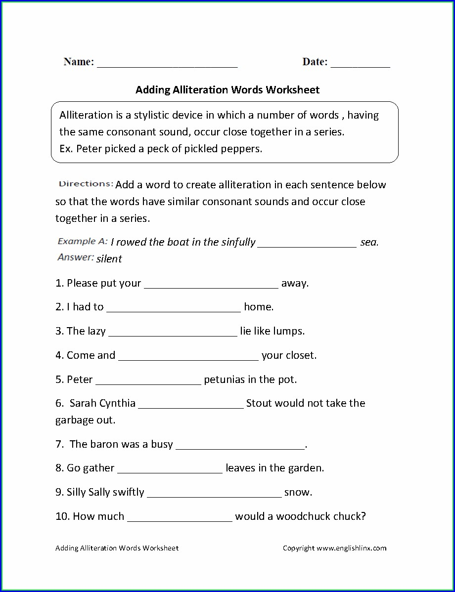 Transition Words Worksheet For 4th Grade