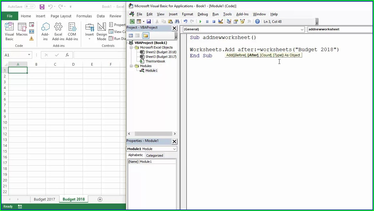 Vba Excel Add Worksheet To Workbook