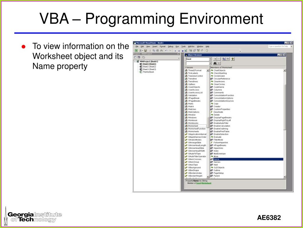 Vba Workbook Name Property